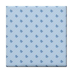 Blue Butterfly Line Animals Fly Tile Coasters