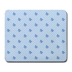 Blue Butterfly Line Animals Fly Large Mousepads