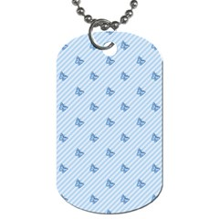 Blue Butterfly Line Animals Fly Dog Tag (one Side)
