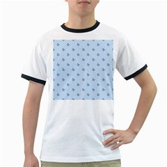 Blue Butterfly Line Animals Fly Ringer T-Shirts