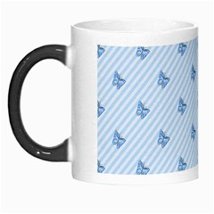 Blue Butterfly Line Animals Fly Morph Mugs