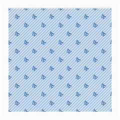 Blue Butterfly Line Animals Fly Medium Glasses Cloth (2-Side)