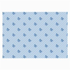 Blue Butterfly Line Animals Fly Large Glasses Cloth (2-Side)