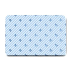 Blue Butterfly Line Animals Fly Small Doormat