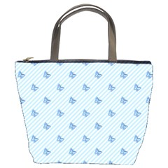 Blue Butterfly Line Animals Fly Bucket Bags