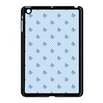 Blue Butterfly Line Animals Fly Apple iPad Mini Case (Black) Front