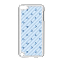 Blue Butterfly Line Animals Fly Apple iPod Touch 5 Case (White)