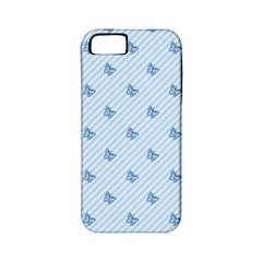 Blue Butterfly Line Animals Fly Apple iPhone 5 Classic Hardshell Case (PC+Silicone)
