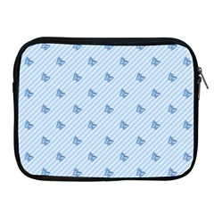 Blue Butterfly Line Animals Fly Apple iPad 2/3/4 Zipper Cases