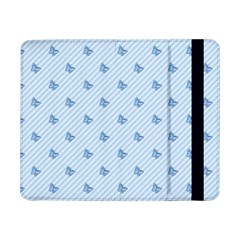 Blue Butterfly Line Animals Fly Samsung Galaxy Tab Pro 8.4  Flip Case