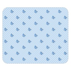 Blue Butterfly Line Animals Fly Double Sided Flano Blanket (Small)