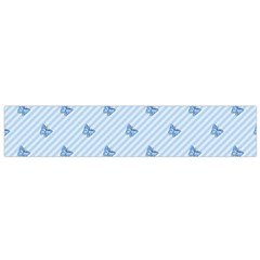 Blue Butterfly Line Animals Fly Flano Scarf (Small)