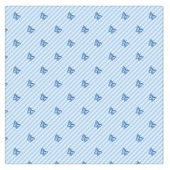 Blue Butterfly Line Animals Fly Large Satin Scarf (Square)