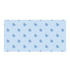 Blue Butterfly Line Animals Fly Satin Wrap