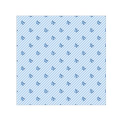 Blue Butterfly Line Animals Fly Small Satin Scarf (Square)