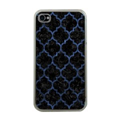 Tile1 Black Marble & Blue Stone Apple Iphone 4 Case (clear)