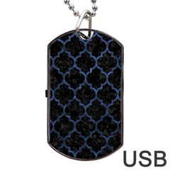 TIL1 BK-MRBL BL-STONE Dog Tag USB Flash (Two Sides)