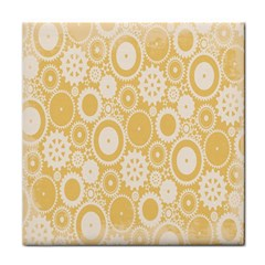 Wheels Star Gold Circle Yellow Tile Coasters