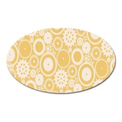 Wheels Star Gold Circle Yellow Oval Magnet