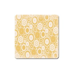 Wheels Star Gold Circle Yellow Square Magnet