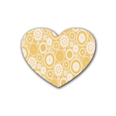 Wheels Star Gold Circle Yellow Rubber Coaster (heart)