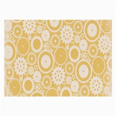 Wheels Star Gold Circle Yellow Large Glasses Cloth (2-Side)