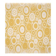 Wheels Star Gold Circle Yellow Shower Curtain 66  x 72  (Large)