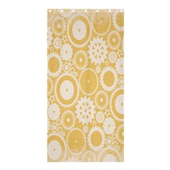 Wheels Star Gold Circle Yellow Shower Curtain 36  x 72  (Stall)