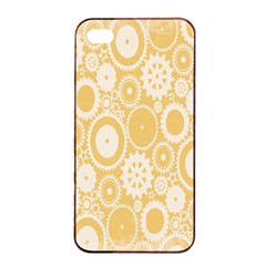 Wheels Star Gold Circle Yellow Apple iPhone 4/4s Seamless Case (Black)