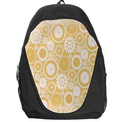 Wheels Star Gold Circle Yellow Backpack Bag