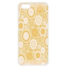 Wheels Star Gold Circle Yellow Apple iPhone 5 Seamless Case (White)