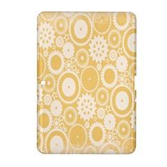 Wheels Star Gold Circle Yellow Samsung Galaxy Tab 2 (10.1 ) P5100 Hardshell Case