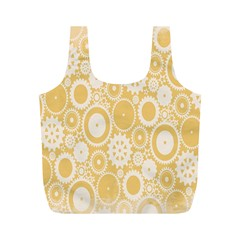 Wheels Star Gold Circle Yellow Full Print Recycle Bags (M)