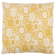 Wheels Star Gold Circle Yellow Large Flano Cushion Case (Two Sides)