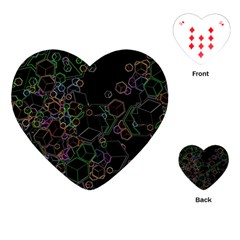 Boxs Black Background Pattern Playing Cards (heart)