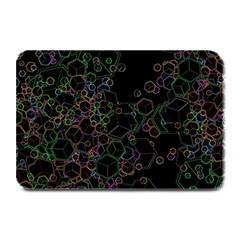 Boxs Black Background Pattern Plate Mats