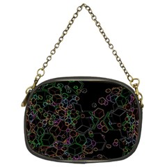 Boxs Black Background Pattern Chain Purses (two Sides)