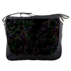 Boxs Black Background Pattern Messenger Bags