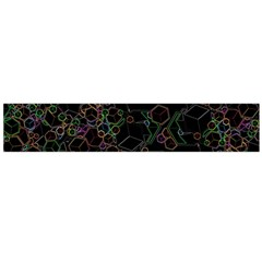 Boxs Black Background Pattern Flano Scarf (Large)
