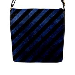 STR3 BK-MRBL BL-STONE Flap Messenger Bag (L)