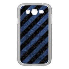 STR3 BK-MRBL BL-STONE Samsung Galaxy Grand DUOS I9082 Case (White)
