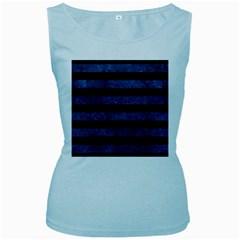 STR2 BK-MRBL BL-STONE Women s Baby Blue Tank Top
