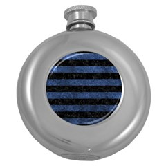 STR2 BK-MRBL BL-STONE Round Hip Flask (5 oz)