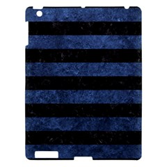STR2 BK-MRBL BL-STONE Apple iPad 3/4 Hardshell Case