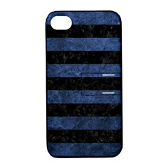 STR2 BK-MRBL BL-STONE Apple iPhone 4/4S Hardshell Case with Stand