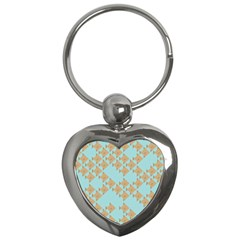 Fish Animals Brown Blue Line Sea Beach Key Chains (Heart)