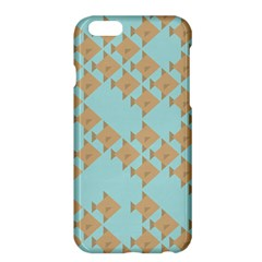 Fish Animals Brown Blue Line Sea Beach Apple iPhone 6 Plus/6S Plus Hardshell Case
