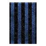 STRIPES1 BLACK MARBLE & BLUE STONE Shower Curtain 48  x 72  (Small) 42.18 x64.8 Curtain