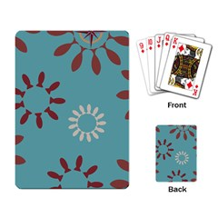 Fish Animals Star Brown Blue White Playing Card
