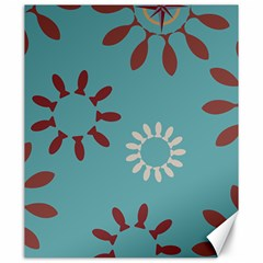 Fish Animals Star Brown Blue White Canvas 20  x 24